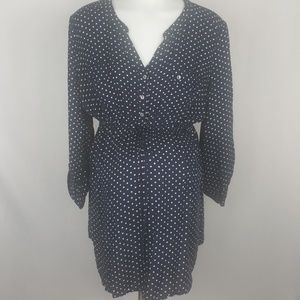 Motherhood Maternity Navy Polka Dot Tunic